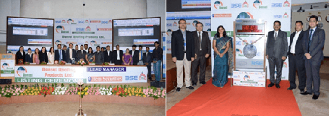 """Initial Public Offereing Ceramony at """"BSE"""" at Mumbai-2014"""